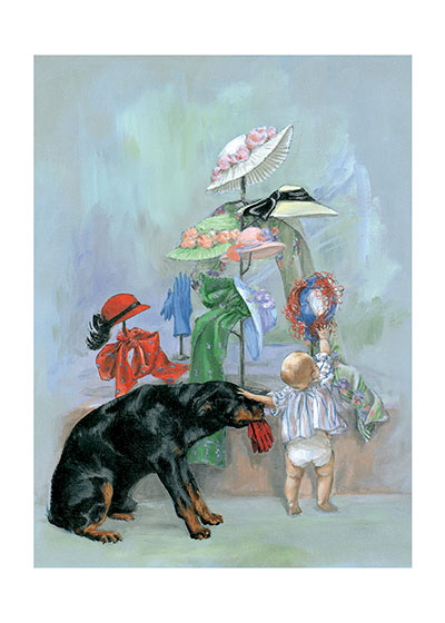 Carl in Hat Shop | Good Dog, Carl Greeting Cards