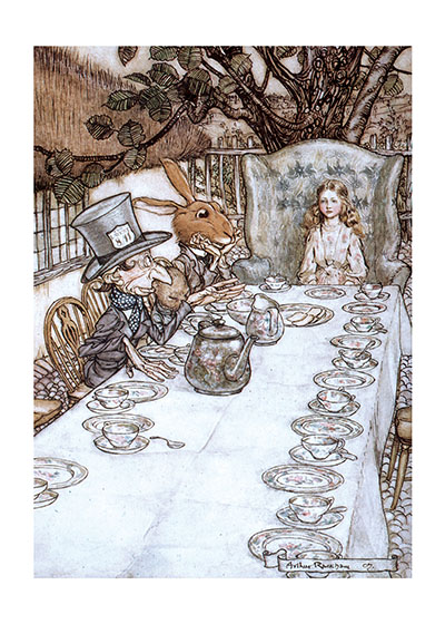 The Mad Teaparty Art Blank Greeting Card | Storybook Classics Greeting Cards