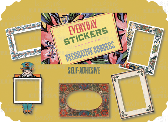 Decorative Border Sticker Pack This retro packet of 10 individual peel and stick labels contains a great set of decorative borders that can be used to frame photos, keepsakes and decorate correspondence.