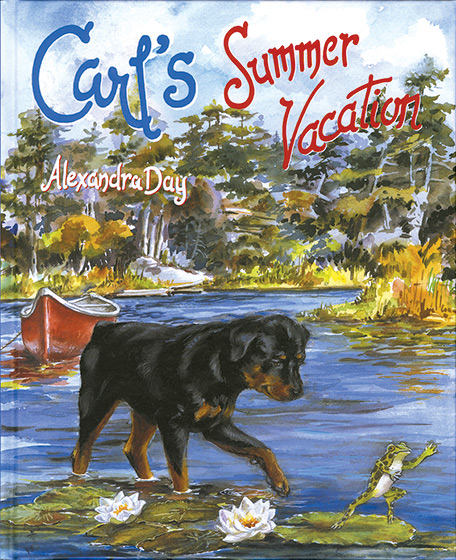Carl's Summer Vacation (Signed)-SOLD RETAIL ONLY | Good Dog, Carl Books Carl and Madeleine are supposed to be napping while Mom and Dad get the summer cabin ready for company, but this lovable canine and his charge have better things to do. They escape from the hammock to do some canoeing, pick blackberries, and enjoy a picnic. Carl even plays a little baseball! That night, Mom and Dad wonder why the two are so tired  little do they know that Carl and Madeleine have been busy exploring all that a summer vacation on the lake has to offer.