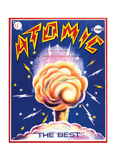 Fireworks Labels, Atomic | Firework Labels 4th of July Greeting Cards Our notecards are custom printed at our location in Seattle, WA. They come bagged with an envelope.