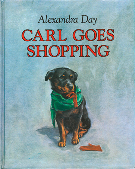 Carl Goes Shopping (Signed)-SOLD RETAIL ONLY | Good Dog, Carl Books Carl, everyone's favorite rottweiler, is back in an all-new adventure. This time Mom asks him to watch the baby in a department store. The minute she's out of sight, Carl and the baby's adventure begins. Should they help the animals escape from the pet department? But, A no! There's Mom heading back toward the baby's carriage. It's up to Carl to return the baby in time.