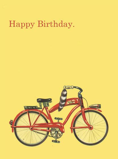 Birthday Bicycle   OUTSIDE GREETING: Happy Birthday  BLANK INSIDE