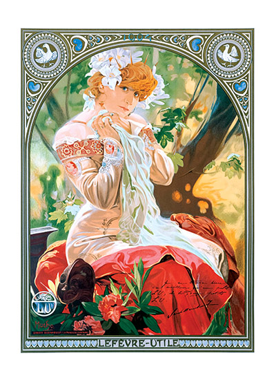 Alphonse Mucha Art Print, The Distant Princess Czech artist Alphonse Mucha's Art Nouveau style makes for perfectly lovely blank cards and art prints. These prints are made at our location in Seattle, WA. They have a thick, white backing board and are sealed in clear bags. Each is suitable for framing at 11 inches x 14 inches or can be used as is for wall display. Our goal is to bring back to life these wonderful illustrations from old-fashioned, children's books and from early advertising art.