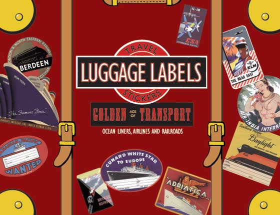 Golden Age of Transport  Travel Labels | Travel Stickers This box of 20 individual peel and stick luggage labels are suitable for scrapbooking, decoupage, gift wrapping and, of course the adornment of old trunks and luggage. This selection celebrates transport by air, land and sea; some of the airline labels we include are: TWA, Trans Asiatic, Air India, TACA, and Czechoslovak Airlines. There are ocean liner labels from Matson, Cunard, N.Y.K. and Canadian Pacific. The railroad labels include the Northern Pacific line, The Orient Express, The Flying Scotsman and the Brienzer Rothorn. Only a vastly ambitious traveler could have achieved this selection on their own.