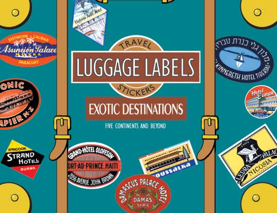 Exotic Destinations Luggage Labels | Travel Stickers