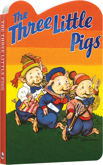 The Three Little Pigs The Three Pigs is a lively and humorous retelling of the classic fairytale about three sibilings learnign about self- reliance and standing up to bullies and the wolf gets a good scare as well. Classic vintage illustrations by Milo Winter have been paired with an updated text suitable for beginning readers. In a sturdy board book format suitable for little hands to handle without worry of tears.