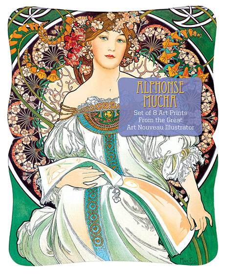 Alphonse Mucha Prints Alphonse Mucha has a perennial appeal. His images, usually of beautiful women in exotic costumes, are surrounded with all the sumptuous decorative detail that an Art Nouveau genius could come up with.