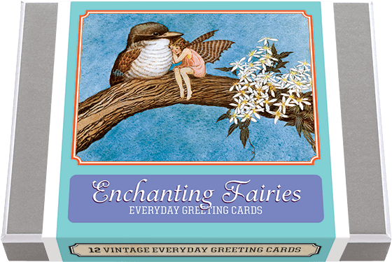 Enchanting Fairies 12 Enchanting Fairy Greeting Cards, featuring some of Australian artist Ida Rentoul Outhwaite ever-popular fairy imagery. 2 each of 6 designs with 12 envelopes. Outhwaite's beautiful paintings make for lovely blank cards.  Made in America with high quality paper, envelopes and packaged in a deluxe, keepsake box. All cards are blank inside.