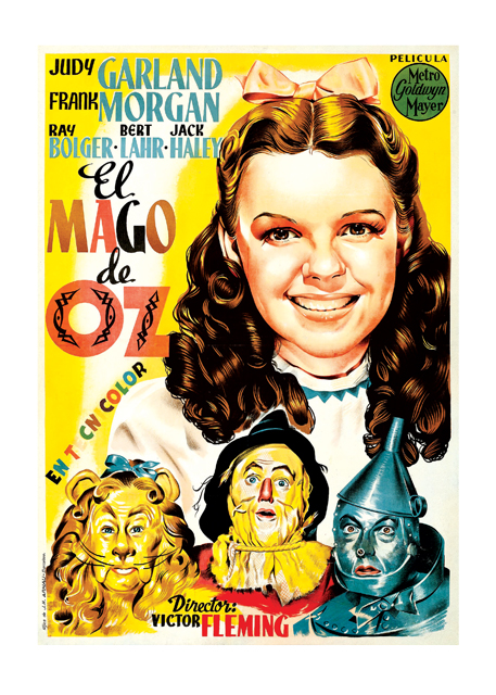 The Wizard of Oz Poster An Italian poster for the Academy Award winning and beloved 1939 film, picturing the actors that this film made famous.  These prints are made at our location in Seattle, WA. They have a thick, white backing board and are sealed in clear bags. Each is suitable for framing at 11 inches x 14 inches or can be used as is for wall display. Our goal is to bring back to life these wonderful illustrations from old-fashioned, children's books and from early advertising art.