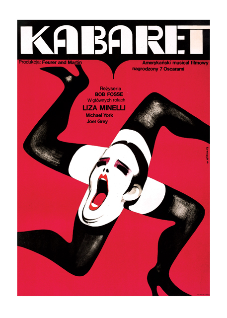 "Cabaret Poster A bizarre Polish poster for the musical ""Cabaret."" The Czechs were avid movie fans and their designers made some magnifcent posters for the films they imported from other couintries. BLANK INSIDE  Our blank notecards are custom printed at our location in Seattle, WA. They come bagged with an envelope. We love illustration art from old children's books and early, printed ephemera. These cards reflect this interest in bringing delightful art back to life."