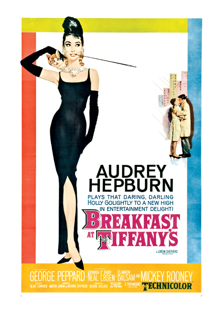 Breakfast at Tiffany's Poster Based on a novel by Truman Capote, this charming romantic comedy stars the luminous Audrey Hepburn as Holly Golightly, a New York socialite who gets involved with her next-door-neighbor, struggling writer Paul Varjak (George Peppard). Soon, Holly's flighty lifestyle is turned upside down, especially when Doc (Buddy Ebsen) shows up bearing a secret from her past. Many consider this to be Hepburn's very best role, and the poster is widely hailed as one of the finest ever printed.  These prints are made at our location in Seattle, WA. They have a thick, white backing board and are sealed in clear bags. Each is suitable for framing at 11 inches x 14 inches or can be used as is for wall display. Our goal is to bring back to life these wonderful illustrations from old-fashioned, children's books and from early advertising art.