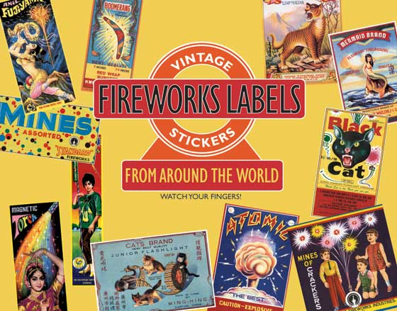 Fireworks Labels Sticker Box | Everyday Stickers Here we reproduce 20 labels from vintage fireworks packaging, most from Indian and Chinese fireworks. Fireworks are ephemeral, vibrant and festive, and their packaging reflects this. Both of these countries have long and rich traditions of fireworks manufacture and display. Some of the imagery is fireworks related, some is not, but all of the labels are bright, lively and capture something of the exuberance of the products they celebrate.