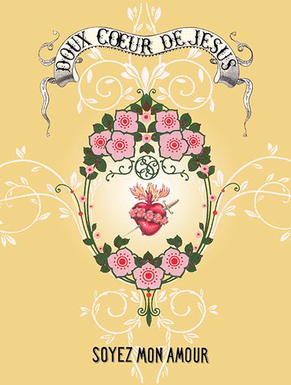 Doux Coeur De Jesus - Greeting Cards | Encouragement Greeting Cards Soyez Mon Amour (blank inside)