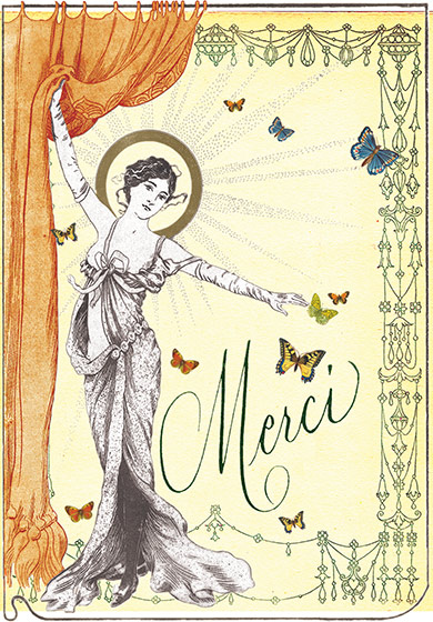 Merci - Greeting Cards | Thank You Greeting Cards Merci (blank inside)