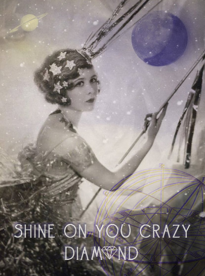 Woman in Swing  OUTSIDE GREETING: Shine On You Crazy Diamond   BLANK INSIDE