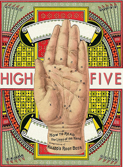 High Five - Greeting Cards | Friendship Greeting Cards High Five (blank inside)