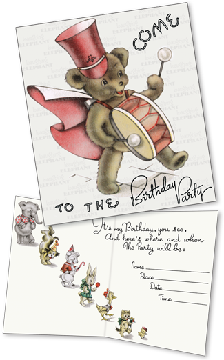 Birthday Invitations: Teddybear (Pack of 15 Cards with Envelopes) | Birthday Greeting Cards A proper birthday party requires a proper birthday party invitation, and our packets of invitations fill this need delightfully. A jolly teddy bear, reproduced from a vintage birthday card, evokes fun and is appropriate for a range of ages. Includes space for the host to fill in pertinent information.