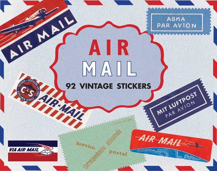 airmail travel labels everyday stickers