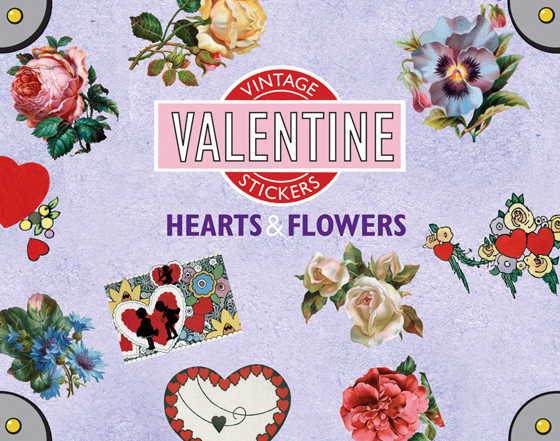 Hearts and Flowers Sticker Box This box contains 35 individual peel-and-stick labels that are suitable for scrapbooking, decoupage, gift wrapping and wherever your stickering imagination takes you.  For your Valentine's Day enjoyment we are delighted to present 35 stickers featuring two of the day's icons, hearts and flowers. We carefully selected the images from our vast treasure trove of postcards, greeting cards, books, Victorian scraps and other paper ephemera.  These will make a lovely addition to Valentine's cards and gifts, and many will make a useful year-round addition to any item a sticker may be used that needs a little extra love.