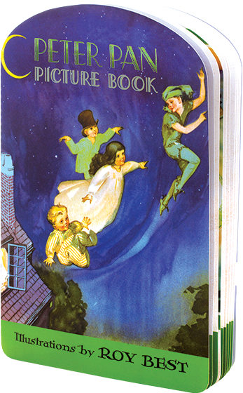 Peter Pan Picture Book {The Peter Pan Picture Book} is a brief version of the timless tale of the boy who refused to grow up.   {The moment you doubt whether you can fly, you cease for ever to be able to do it.} J.M. Barrie, {Peter Pan}  J.M. Barrie's story of Peter Pan has a vast and permanent appeal. The story of Wendy, John and Michael Darling, visited by a magical boy who believes only in playand who never grows oldhas appealed to children since its creation as a stage play in the early 20th century. In it children take flight over London, visit Never-Never-Land, meet mermaids, fairies, a vengeful crocodile, pirates, and, of course, Captain Hook and Tinker Bell.