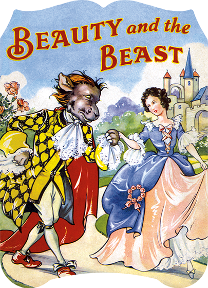 Beauty and the Beast A simple retelling of the classic, and ever-popular, fairy tale, accompanied by lovely illustrations from Rene Cloke. In this version of the story Beast most closely resembles a bull or donkey, and thus is not very menacing. Beauty is lovely, and everyone wears beautiful, vibrantly colored clothes in the Beast's grand castle. These elements add up to an pleasing whole, and a delightful introduction to this story for early readers.