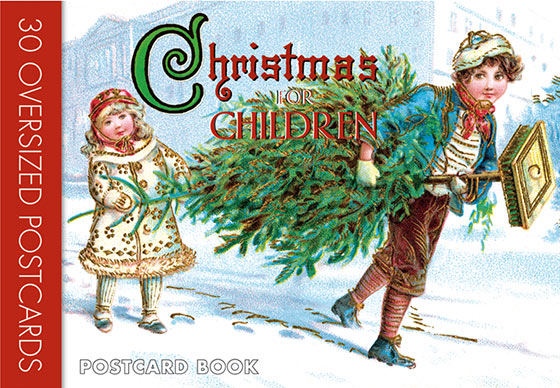 Christmas For Children: Postcard Book Thirty favorite images of children enjoying the holiday season from our treasure trove of vintage Christmas postcards.  Children, in their innocence, appreciate Christmas in a direct manner that is too often lost to us as adults. We celebrate this phenomenon in our Christmas for Children: 30 Oversized Postcards, a postcard book containing 30 reproductions of vintage holiday images. The end of the 19th and the early 20th century were a rich time for postcard publishing. Millions of postcards were produced, sent and enjoyed. Almost every subject was explored, holidays of course being a favorite occasion on which to mail a card, and Christmas prime among those holidays. For (Christmas for Children: 30 Oversized Postcards) we have selected thirty favorite images of children enjoying the holiday season from our treasure trove of vintage Christmas postcards. These detachable postcards are suitable for short Christmas correspondence, party invitations, thank you notes, or as a small art book to be kept intact and enjoyed every year.