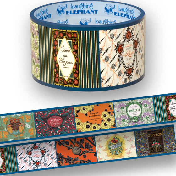 Beaute de Paris | Web Specials Originally $6.95, Now $3.95! Package wrappers rejoice! No more boring tape. This roll is 66 feet in length. French perfume, soap and many other beauty products often have striking and well, beautiful labels, we have collected them for years, and now offer them on this tape to beautify any package or present.