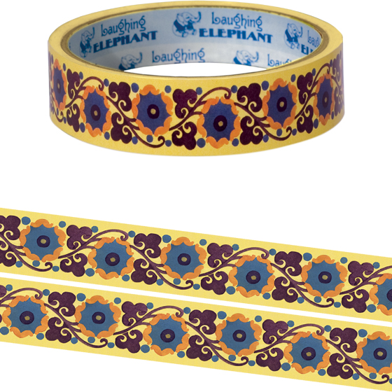 Provence Garden Tape Originally $4.95, Now $1.95! Package wrappers rejoice! No more boring tape. This roll is 66 feet in length. This roll features a pleasing pattern of intertwined flowers and vines. Will look great looped around a box or criss crossed on a wrapped present.