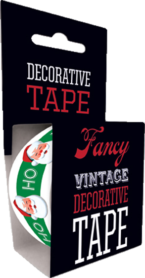 Ho Ho Santa Tape Originally $4.95, Now $1.95! Package wrappers rejoice! No more boring tape. This roll is 66 feet in length. This roll features a pleasing pattern of intertwined flowers and vines. Will look great looped around a box or criss crossed on a wrapped present.
