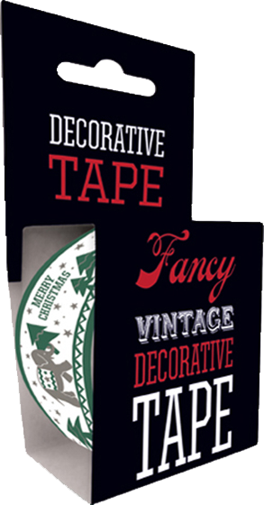 Christmas Elephant Tape Originally $4.95, Now $1.95! Our Christmas Elephant Tape is just the thing for any holiday gift or package. Adorned with a helpful elephant carrying a Christmas tree, our decorative tape is 49.2 feet long and fits standard one-inch tape dispensers.