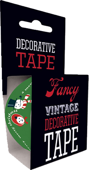 Mr & Mrs Snow Tape | Web Specials Originally $4.95, Now $1.95! Our Mr. & Mrs. Snow Tape is just the thing for any holiday gift or package. Adorned with a Snowman and Snowwoman couple bestowing Christmas wishes, our decorative tape is 49.2 feet long and fits standard one-inch tape dispensers.