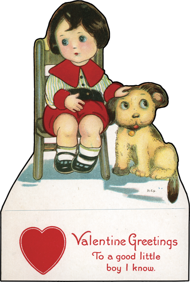 Boy and Dog | Classic Valentine's Day Greeting Cards