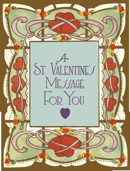 St. Valentine's Message Die Cut Card | Classic Valentine's Day Greeting Cards Die cut card, bagged, includes a decorative envelope.