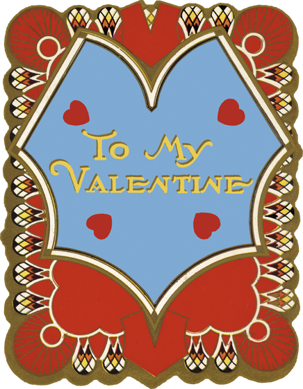 To My Valentine Die Cut | Classic Valentine's Day Greeting Cards Die cut card, bagged, includes a decorative envelope.