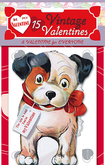 15 Vintage Valentines: A Valentine for Everyone | Packets of Valentine's Day Greeting Cards Die-cut retro valentines!