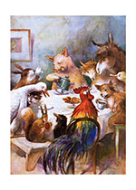Animal Banquet (Animal Friends Animals Art Prints)