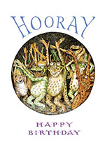 Cheering Frogs (Birthday Greeting Cards)