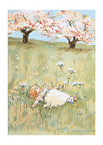 Sleeping In the Peaceful Meadow (Girls Children Greeting Cards)