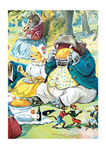 Hippo Eating Pie (Birthday Greeting Cards)