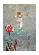 Bubble Fairy With Tulip (Ida R. Outhwaite Fairies Greeting Cards)