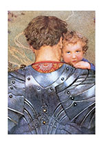 Knight Carrying Child (Fantasy and Legend Art Prints)