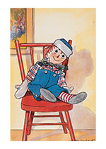Raggedy Andy Relaxing (Dolls Art Prints)