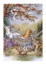 Cat Napping (Captivating Cats Animals Art Prints)