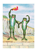 Waving Frogs (Animal Friends Animals Greeting Cards)