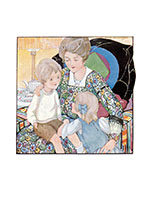 Sitting In the Big Chair With Mother (Family Art Prints)