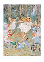 Dancing With the Fairies (Children & Fairies Art Prints)