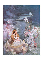 Woman and Child in Boat (Mother's Day Greeting Cards)