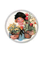 Smiles and Flowers (Girls Children Greeting Cards)