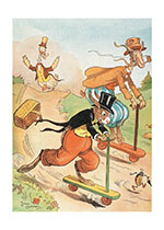 Animals Racing on Scooters (Storybook Classics Art Prints)